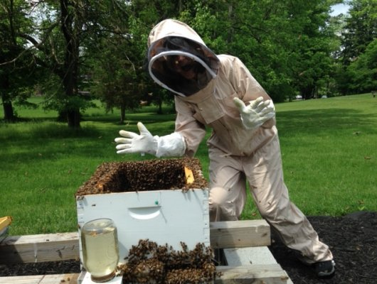 Bee Keeper, Amy Mullins at SEM Haven Assisted Living Community
