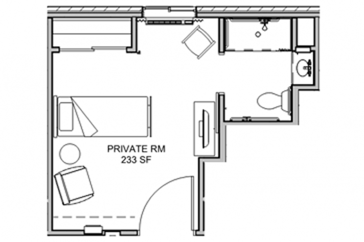assisted living room floor plan