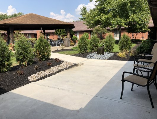 Kugler Woods Assisted Living Courtyard