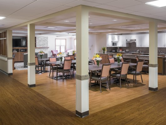 Memory Care Dining Room at SEM Haven