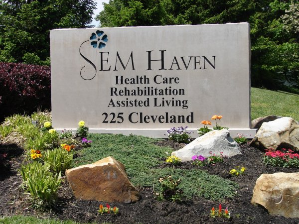 Sem Haven sign at entrance of building in Milford Ohio
