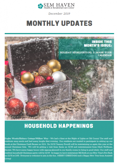 SEM Haven December 2019 Newsletter